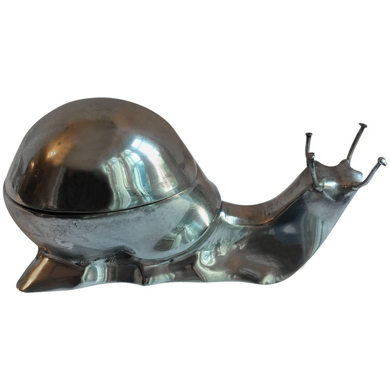 Silver Plate Box in the Form of a Snail