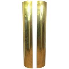 Pair of Tall of Midcentury Brass Corner Columns