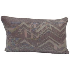 Handcrafted Embroidered Beaded Textile Pillow Geometric Design