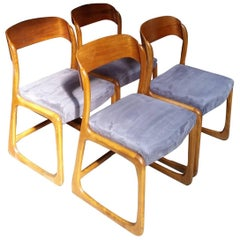 "Set of Four Baumann ""Sled"" Model Seats, circa 1960-1970"