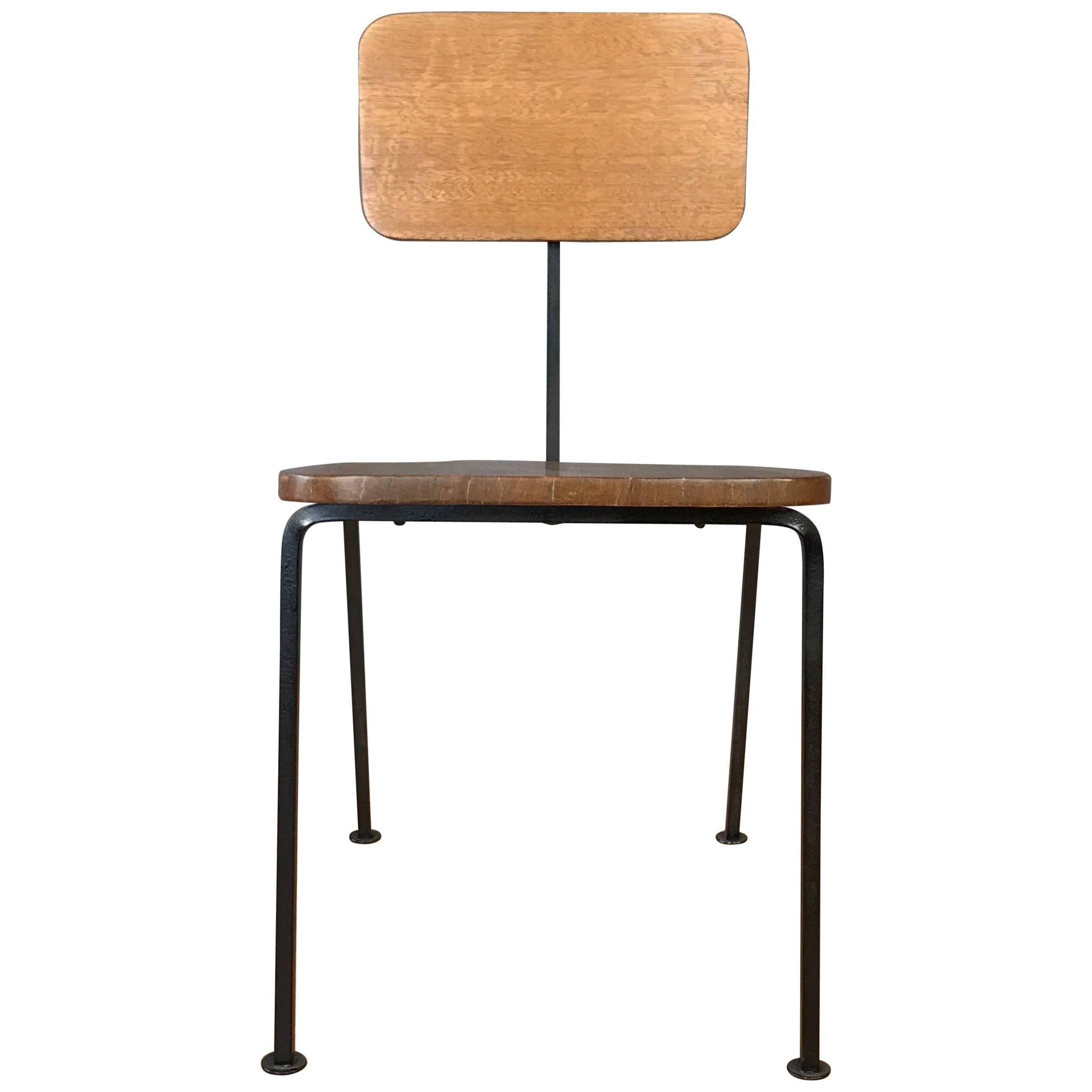 Luther Conover Mahogany And Steel Side Chair