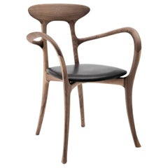 Ma Belle Chair with or Without Armrests in Solid Walnut or Cherry by Ceccotti