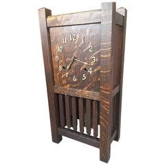 Arthur Pequegnat Mantle Clock, Tokio Model, Mission Style, Circa 1910