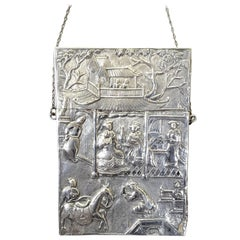 Chinese Export Silver Card Case, Circa 1820