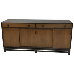 Edward Wormley for Dunbar Mahogany and Walnut Sideboard Credenza