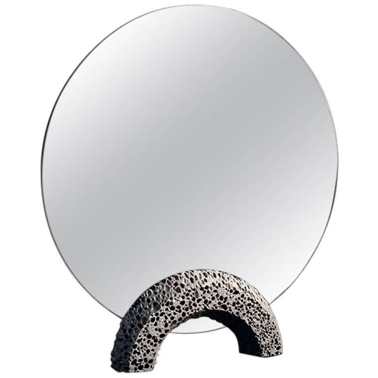 Contemporary Replica 'Lost Foam' Aluminium Dresser Mirror by Studio Furthermore For Sale