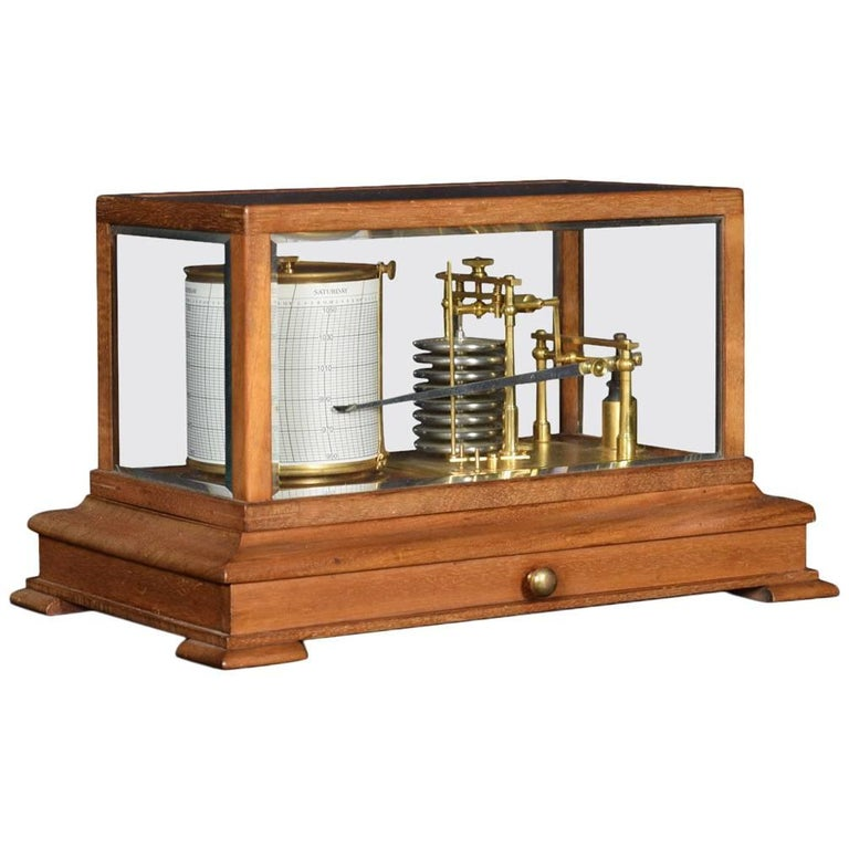 Mahogany Cased Barograph For Sale
