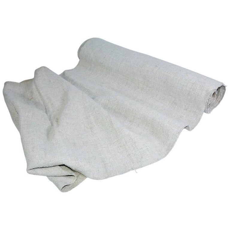 Vintage Linen Grain Sack Fabric