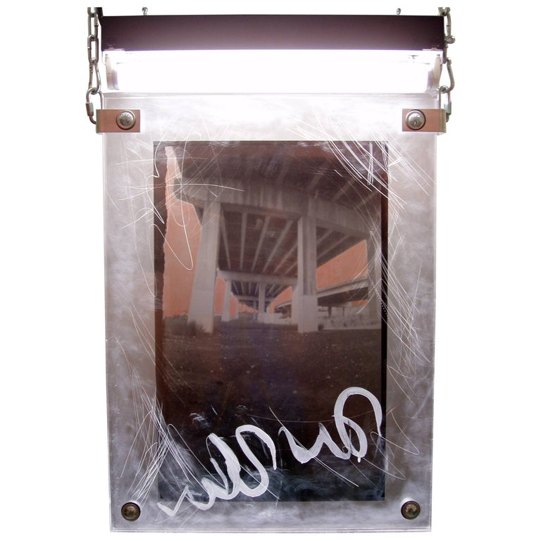 """Karen Brown """"I-95"""", Urban Art Pinhole Photo Transparency and Lucite For Sale"""