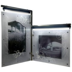 "Karen Brown ""Diptych 1"", Urban Art Pinhole Photo Transparency and Lucite"