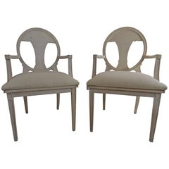 Set of Four Swedish Neoclassical Style Armchairs