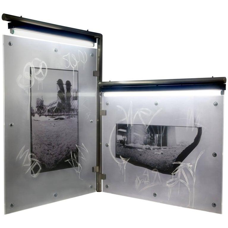 "Karen Brown ""Diptych 2"", Urban Art Pinhole Photo Transparency and Lucite"