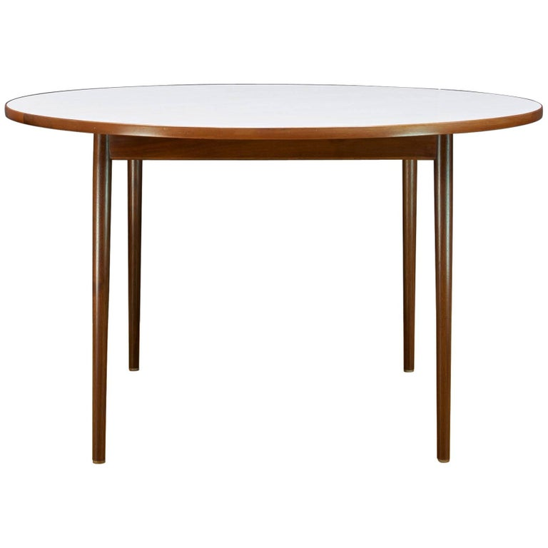 1950s Milo Baughman for Thayer Coggin Pencil Leg Walnut Foyere Entryway Table