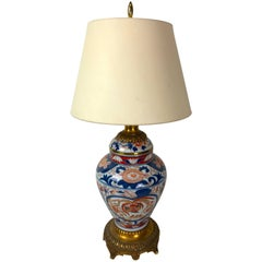 Ormolu-Mounted Imari Ginger Jar, Now as a Lamp