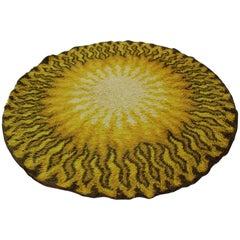 Danish Vintage Round Wool Rug