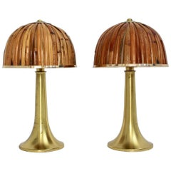 Gabriella Crespi Fungo Table Lamps from the Rising Sun Series, 1973, Italy