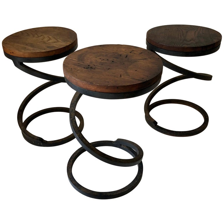 "Set of Three Vintage ""Spring"" Tables For Sale"