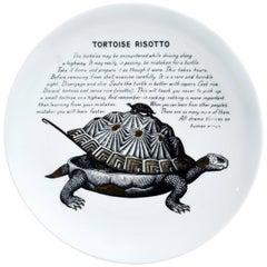 Piero Fornasetti Fleming Joffe Recipe Plate- Tortoise Risotto, 1960s