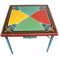 Hand-Painted Folk Art Card Table