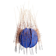 Singular, Kinetic, Vibrant Blue Geometric Sculpture, Irving Harper, 20th Century
