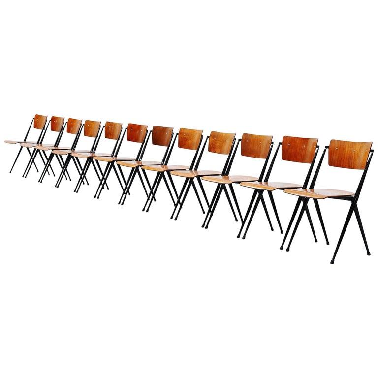 Wim Rietveld Pyramid Chairs Ahrend de Cirkel, 1960