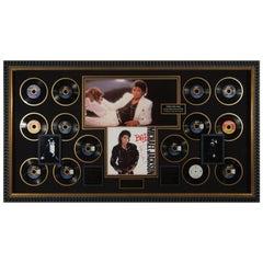 Sensational Michael Jackson Autographed 'Bad' Album Framed Memorabilia Display