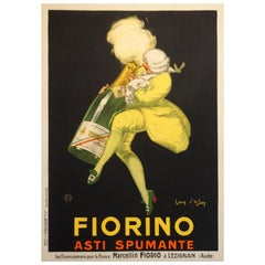French Art Deco Sparkling Wine Poster 'Fiorino Asti Spumante' by d'Ylen, 1922