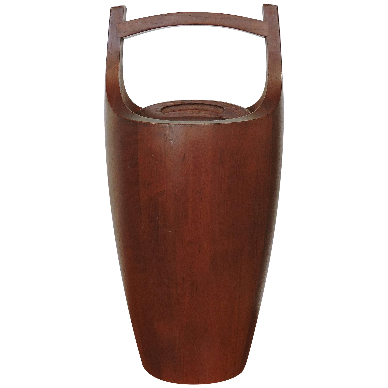 Large Quistgaard Danish Modern Teak Ice Bucket for Dansk Designs