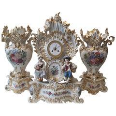 Fine 19th Century Clock Set Garniture by Jacob Petit