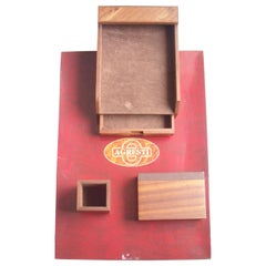 Agresti, Blotter and Desk Set, Four Pieces in Elm Wood