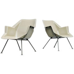 Wim Rietveld Polyester Chairs Model 416 Gispen, 1957
