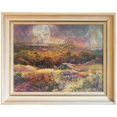 """""""Autumn in Betsie Valley, Michigan,"""" Brilliant Landscape Painting by Merizon"""