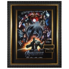 Marvel Avengers Complete Cast Autographed Poster Framed Memorabilia Display