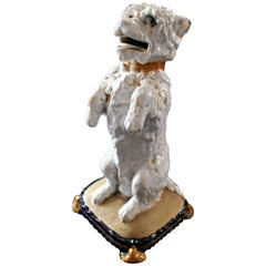 William Brownfield Majolica Terrier Letter Holder