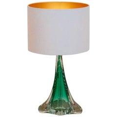 Unique Handmade Boussu Translucent Glass Table Lamp, Belgium, 1960s