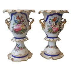 Unusual Pair of 19th Century Paris Vases