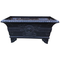 19th Century French Cast Iron Rectangular Planter Jardinière