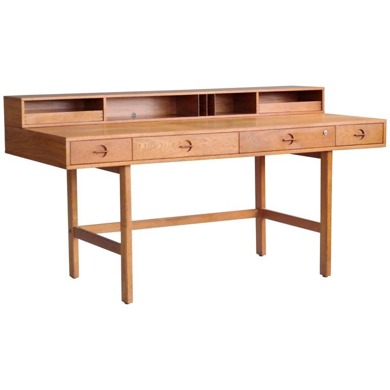 Peter Løvig Nielsen/Jens Quistgaard Flip-Top Desk in Teak for Løvig Dansk