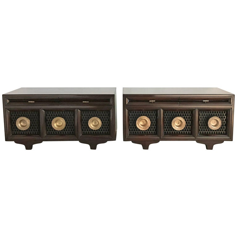 Pair of Matching Custom Cabinets, Nightstands or End Tables For Sale