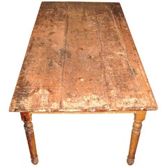 1870s Rustic Farm House Country Table