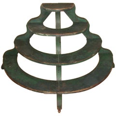 1920s Four-Tier Primitive Farmhouse Plant Stand in Original Paint