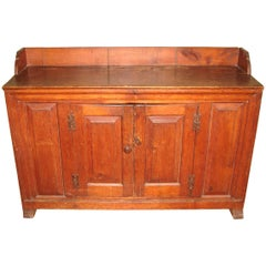 1770s Antique Farmhouse Pine Server Cabinet