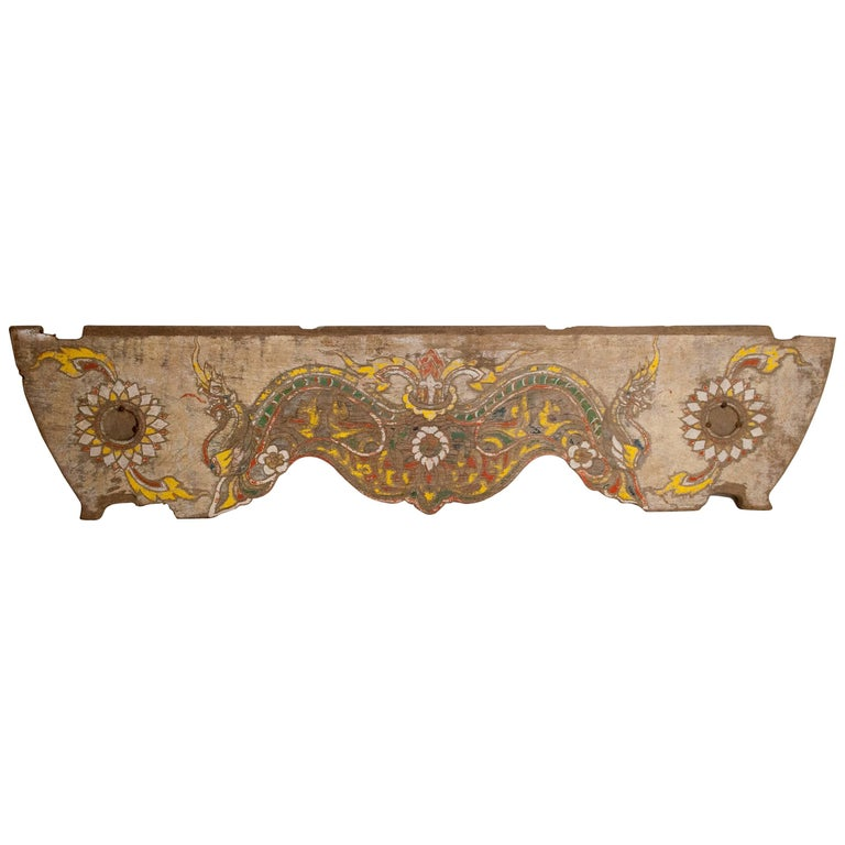 Vintage Decorative Cart Panel, Naga Motif, Mid-20th Century, North Thailand For Sale