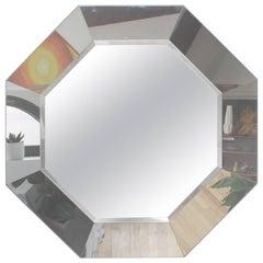 1970s Octagonal Mirror by Gampel-Stoll