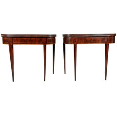 Pair of George III Mahogany Games Tables