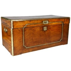 Chinese Export Camphorwood and Brass Mounted Chest