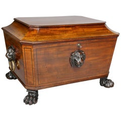 Irish Regency Mahogany Cellerette