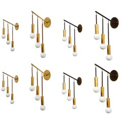 Eight Italian Wall Lights by Interlampadario Milano