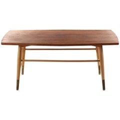 Swedish Coffee Table in Birch and Oak, 1960s