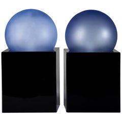 "Pair of ""Alba"" Table Lamps by Ettore Sotsass for Enel"